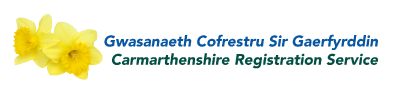 Carmarthenshire Registration Service logo